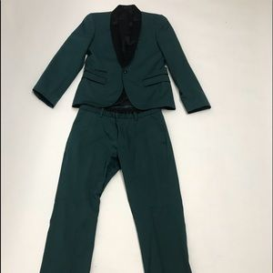 Preowned Like New 'Topman' green black suit